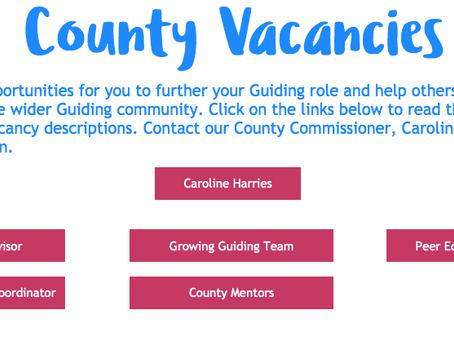 New County Vacancies!!!