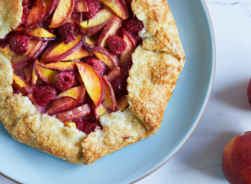 You'd Never Guess this Raspberry-Peach Rustic Tart is (Almost!) Sugar-Free