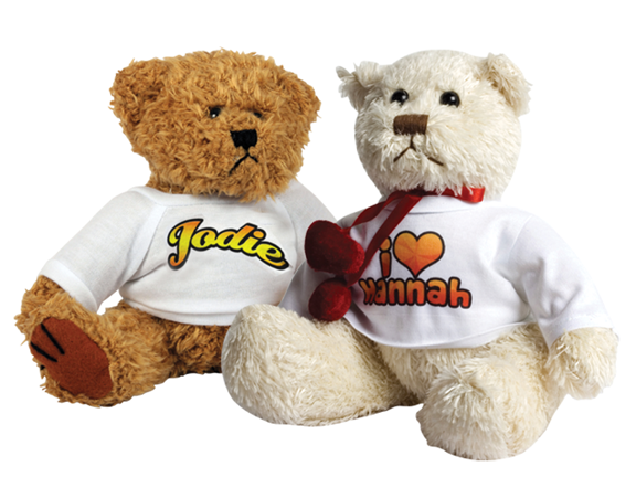 TEDDY BEARS WITH T/SHIRTS