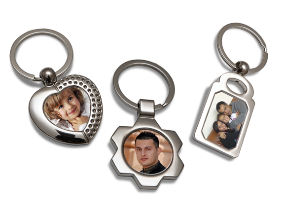 METAL PHOTO KEYRINGS