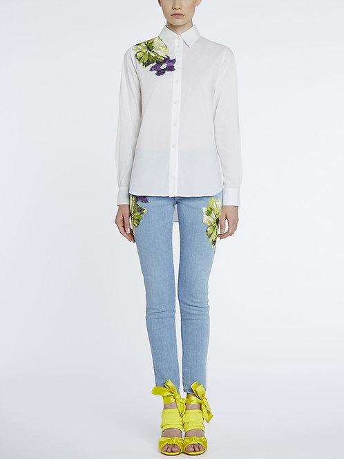 BLUMARINE Embroidered Jeans