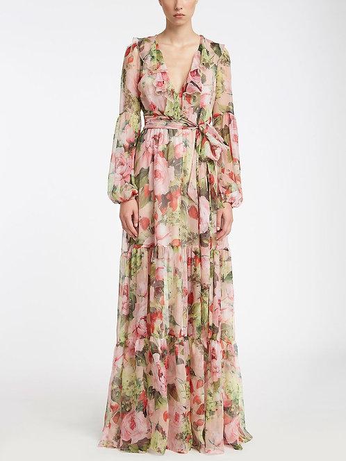 BLUMARINE Chiffon gown