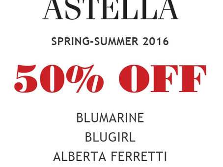 50% OFF SS 2016 - All Brands