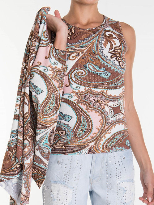 BLUMARINE Paisley patterned twinset