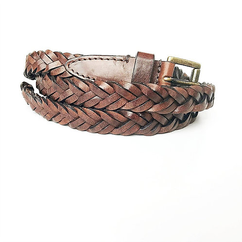 BLUGIRL Leather knitted belt