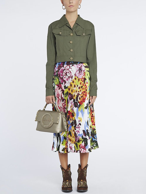 BLUGIRL Pleated print skirt
