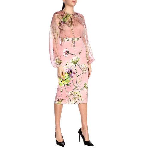 BLUMARINE Flower print skirt