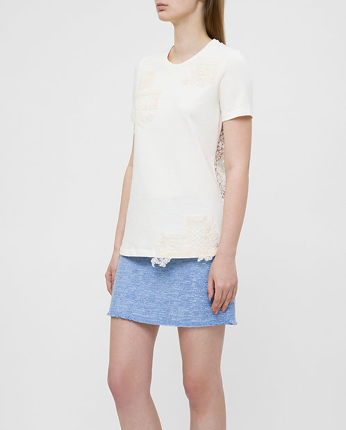 ERMANNO T-shirt with lace