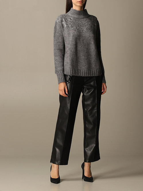 ERMANNO Mohair sweater with studs