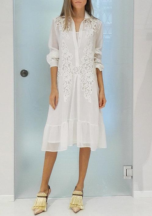 BLUMARINE Shirt Dress with Lace