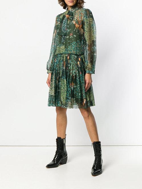 silk dress alberta ferretti shop online