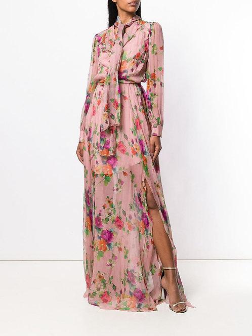 BLUMARINE Chiffon long gown