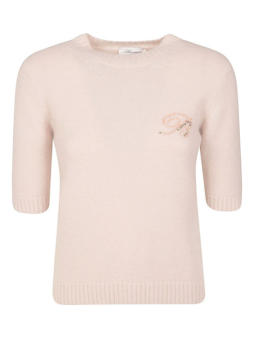 "BLUMARINE Sweater with ""B"" logo"