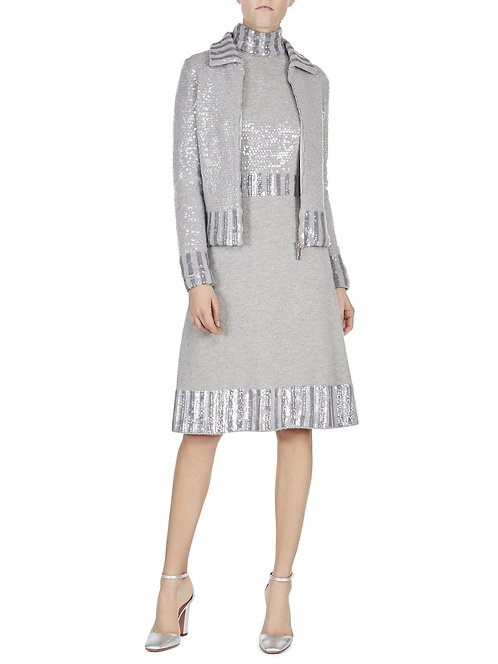 knit dress with sequins blumarine new collection