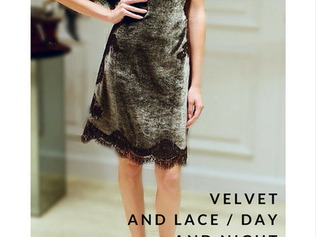 Velvet dress with lace from Alberta Ferretti
