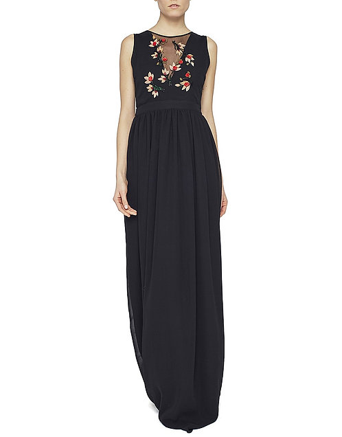 Long dress with flowers embroidery Blugirl