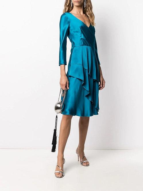 ALBERTA FERRETTI Silk satin dress