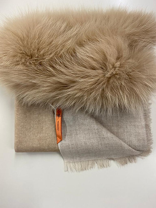 "AMA PURE ""Wool Double - Sand/Milk"" Scarf"