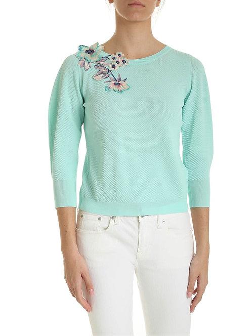 BLUMARINE Flowers embroidered sweater