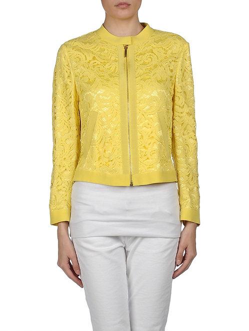 ALBERTA FERRETTI Lace Zipped Jacket