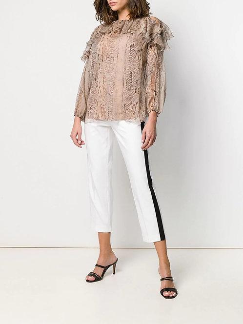 BLUMARINE Animal print blouse