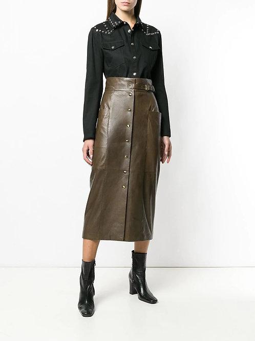 ALBERTA FERRETTI Leather skirt