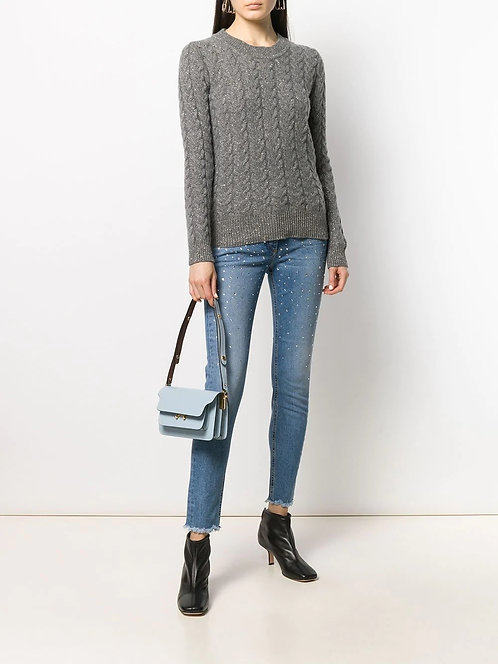 BLUMARINE Jeans with rhinestones