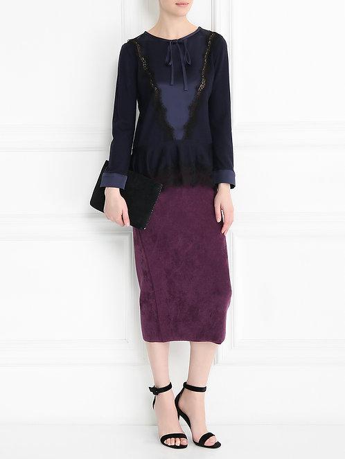 ALBERTA FERRETTI Multifabric blouse