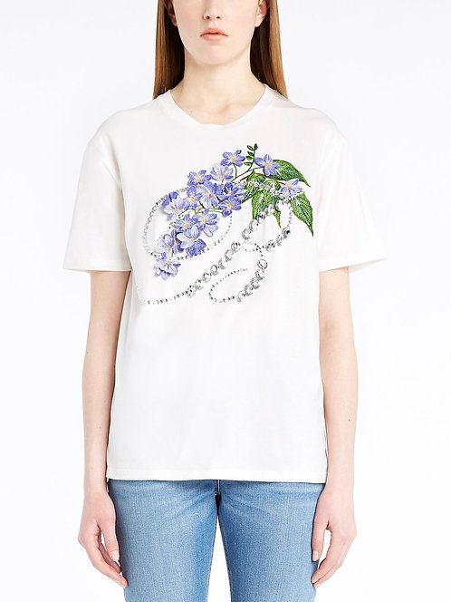 BLUMARINE T-shirt with 3D flowers