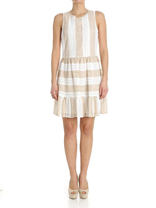 BLUGIRL Stripped lace dress