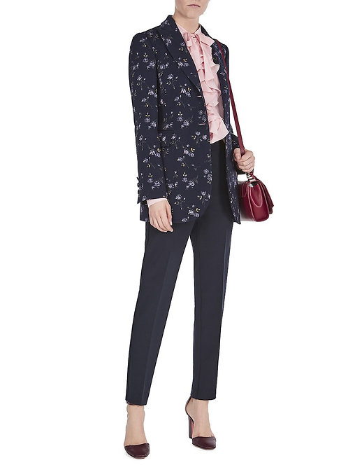 classic fit trousers navy blumarine shop online