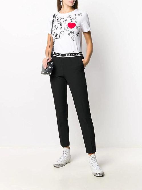 ERMANNO Pants with logo belt