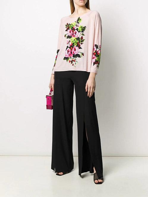 BLUMARINE Floral knit blouse