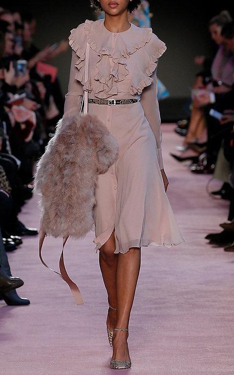 BLUMARINE Chiffon dress with ruffles