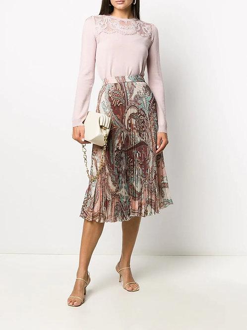 BLUMARINE Pleated midi skirt