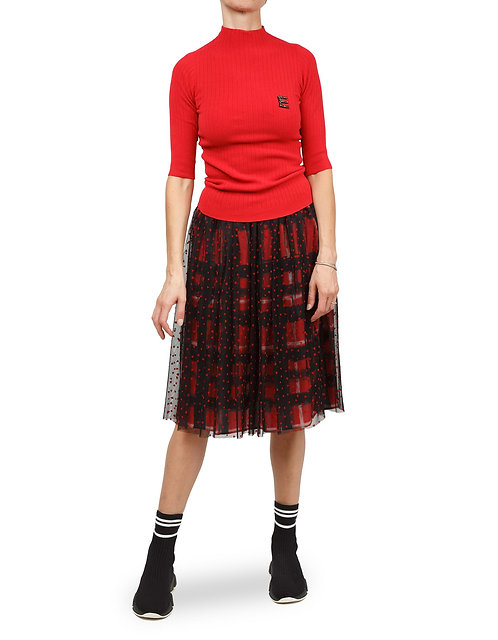 ERMANNO Skirt with contrast layers