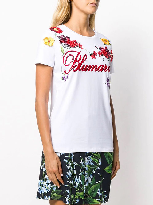 BLUMARINE Limited T-shirt with 3D flowers