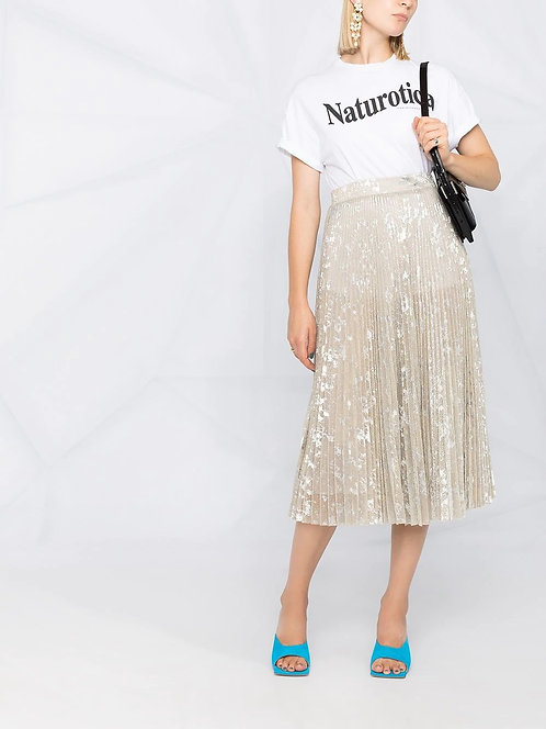 BLUMARINE Shiny pleated skirt