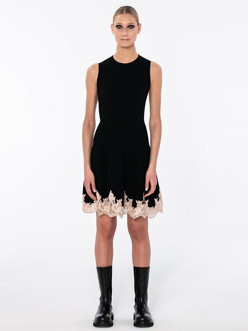 BLUMARINE Knit dress with lace