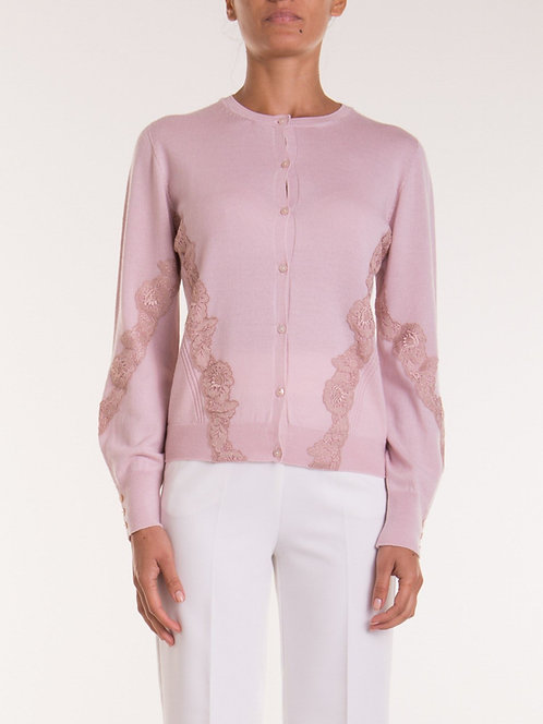 BLUMARINE Cardigan with lace details