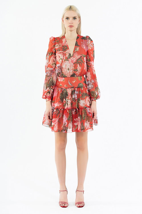 INGIE PARIS V-neck mini dress