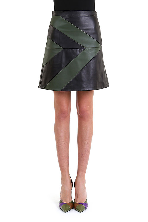 EMANUEL UNGARO Leather Skirt