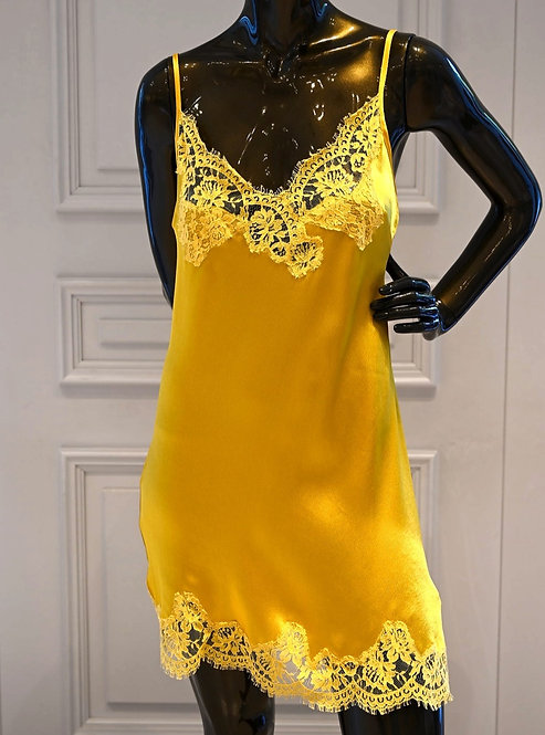 ERMANNO Slip dress with lace