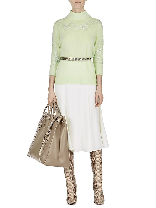 BLUMARINE Sweater with lace inserts