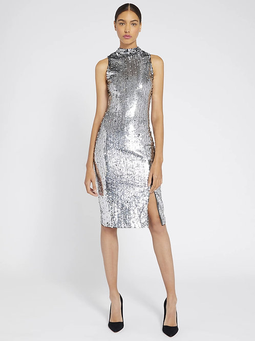 ALICE+OLIVIA Metallic sequin dress