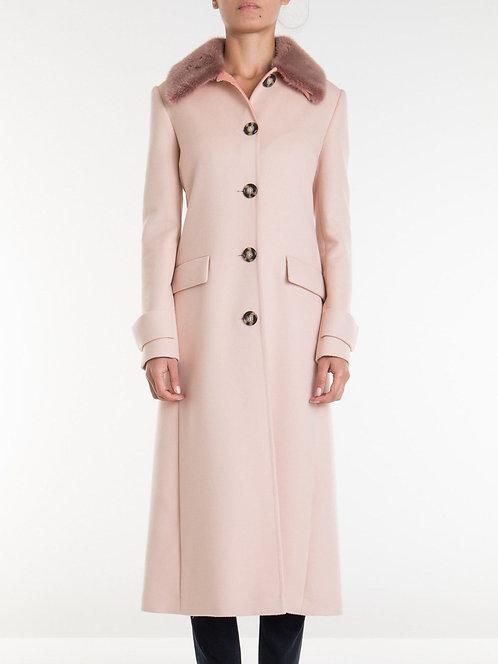 BLUMARINE Long coat with mink collar