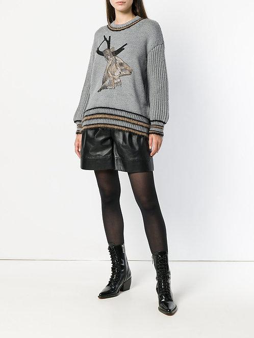 leather shorts alberta ferretti shop online