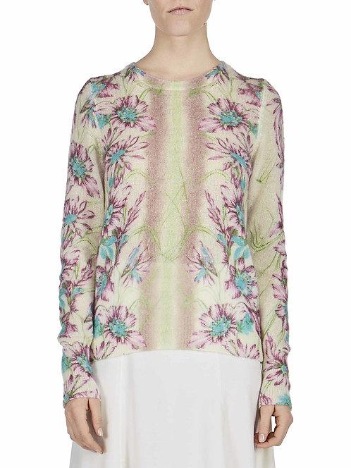 italian cashmere sweater blumarine print