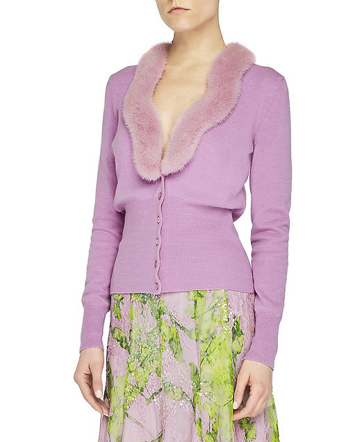 BLUMARINE Cardigan with fur