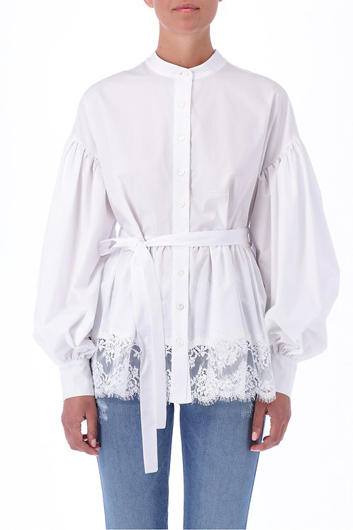 ERMANNO FIRENZE Shirt with lace